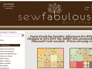 Shop at sewfabulousquiltshop.com