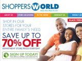 Shoppersworldusa.com Coupon Codes