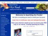 Browse Sparkling Koi Ponds