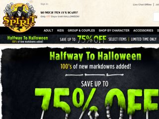 Shop at spirithalloween.com