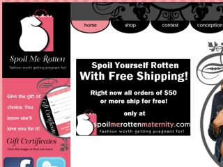Shop at spoilmerottenmaternity.com