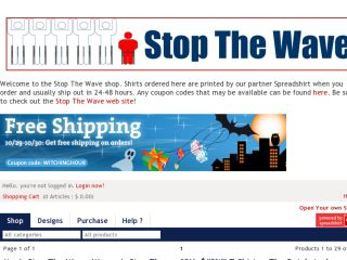 Shop at stopthewave.spreadshirt.com