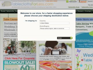 Shop at tableclothsforless.com