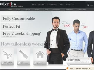 Shop at tailor4less.com