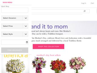 Shop at teleflora.com