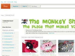 Shop at themonkeyshop.etsy.com