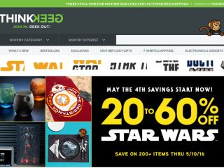 Shop at thinkgeek.com