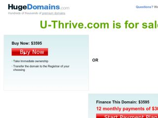 Shop at u-thrive.com
