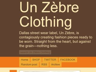 Shop at unzebreclothing.com