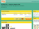 UX Week 2011 - Hosted by Adaptive Path Coupon Codes
