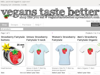 Shop at veganstastebetter.spreadshirt.com