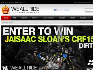 Shop at weallrideclothing.com