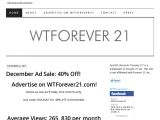 Wtforever21.com Coupon Codes